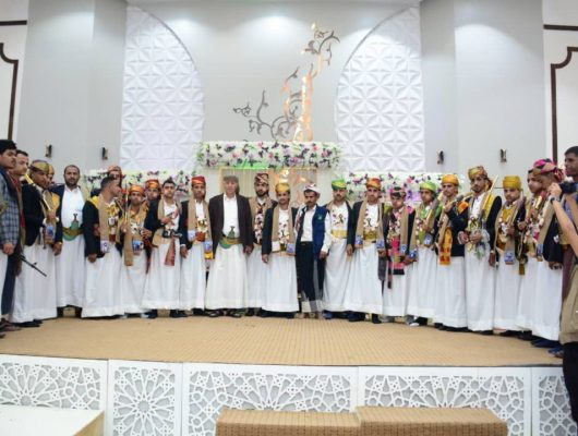 The thirteenth collective wedding for the sons of the martyrs in Ibb Governorate